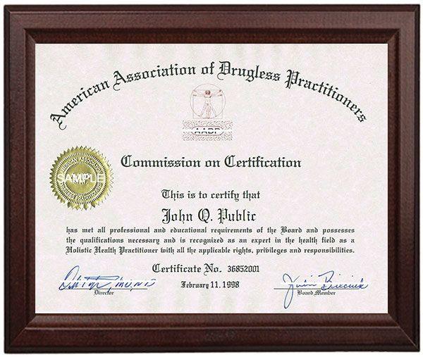are you board certified? | aadp - american association of drugless ...